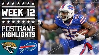 Jaguars vs. Bills | NFL Week 12 Game Highlights