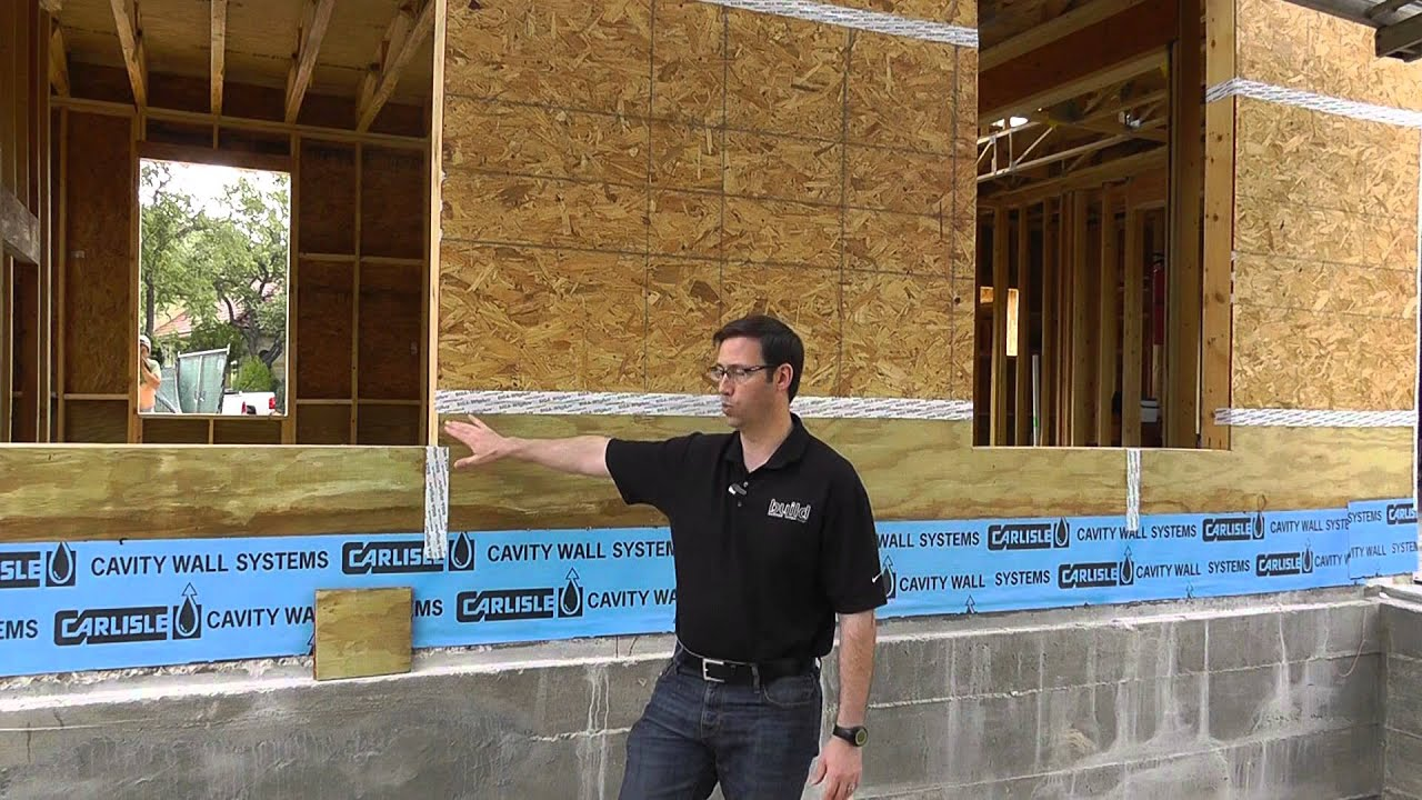 Osb vs plywood sheathing choices youtube for Plywood wall sheathing