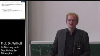 Geschichte der Philosophie (4): Aristoteles (Fortsetzung), Prof. Dr. Torsten Wilholt