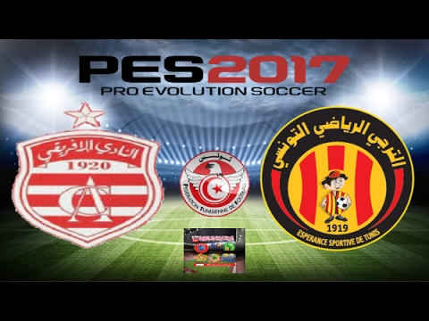 PS4 PES 2017 Gameplay Club Africain vs Esperance De Tunis HD