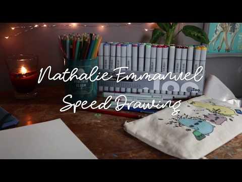 Nathalie Emmanuel Speed Drawing