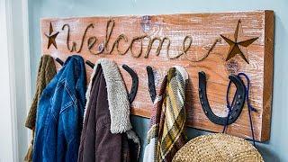 DIY Horseshoe Coat Rack - Home & Family