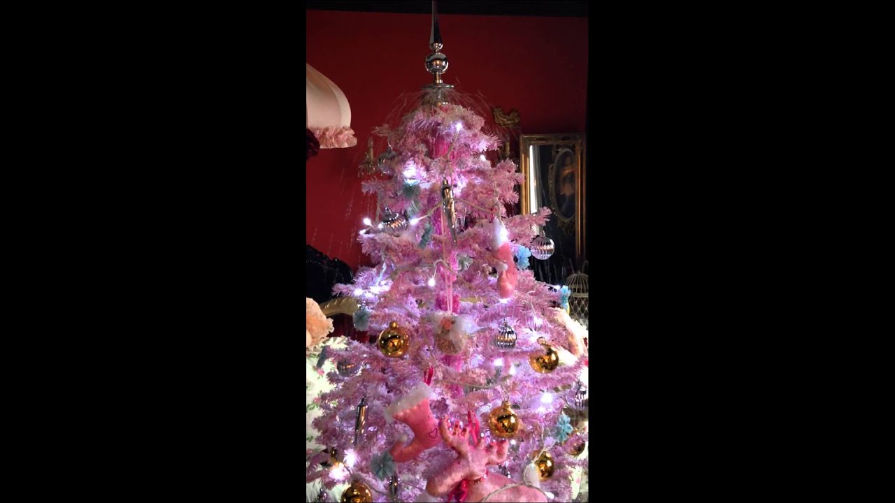 The snowing Christmas tree in pink - The Snowing Christmas Tree In Pink - YouTube