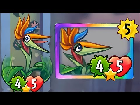 Plants vs Zombies Heroes - Bird of Paradise Gameplay with Primal Peashooter and Tricarrotops