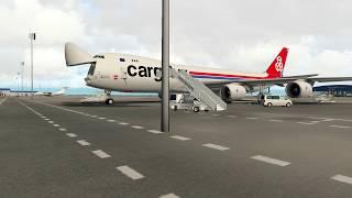 [X-Plane 11] CARGOLUX 747-8 BAKU to LUXEMBOURG Part-1