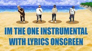 Dj Khaled ~ I'm the One [karaoke Instrumental] (with lyrics)