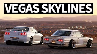 Two Skylines of our Dreams: Classic Hakosuka Nissan Skyline and R34 GT-R in Vegas