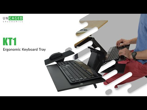 KT1 Adjustable Ergonomic Under Desk Keyboard Tray Negative Tilt Overview