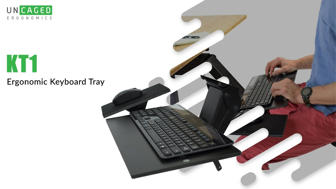 Kt1 Adjule Ergonomic Under Desk Keyboard Tray Negative Tilt Overview