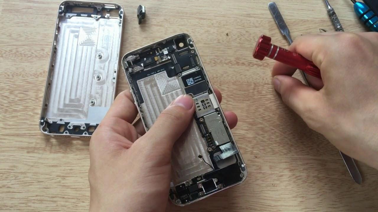 Hướng dẫn chi tiết quá trình thay vỏ máy iPhone5s, thay vỏ ip5s
