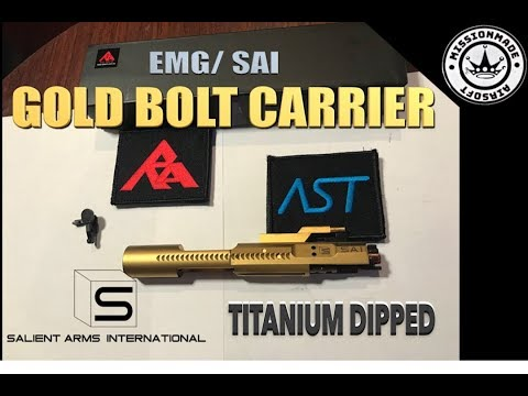Salient Arms Steel Bolt Carrier WE M4 (Titanium Dipped)