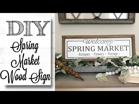DIY Spring Market Framed Wood Sign
