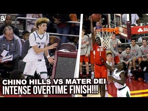 Chino Hills Vs. Mater Dei @ Galen Center USC Epic Showdown  In An Overtime Thriller!! 2/24/17
