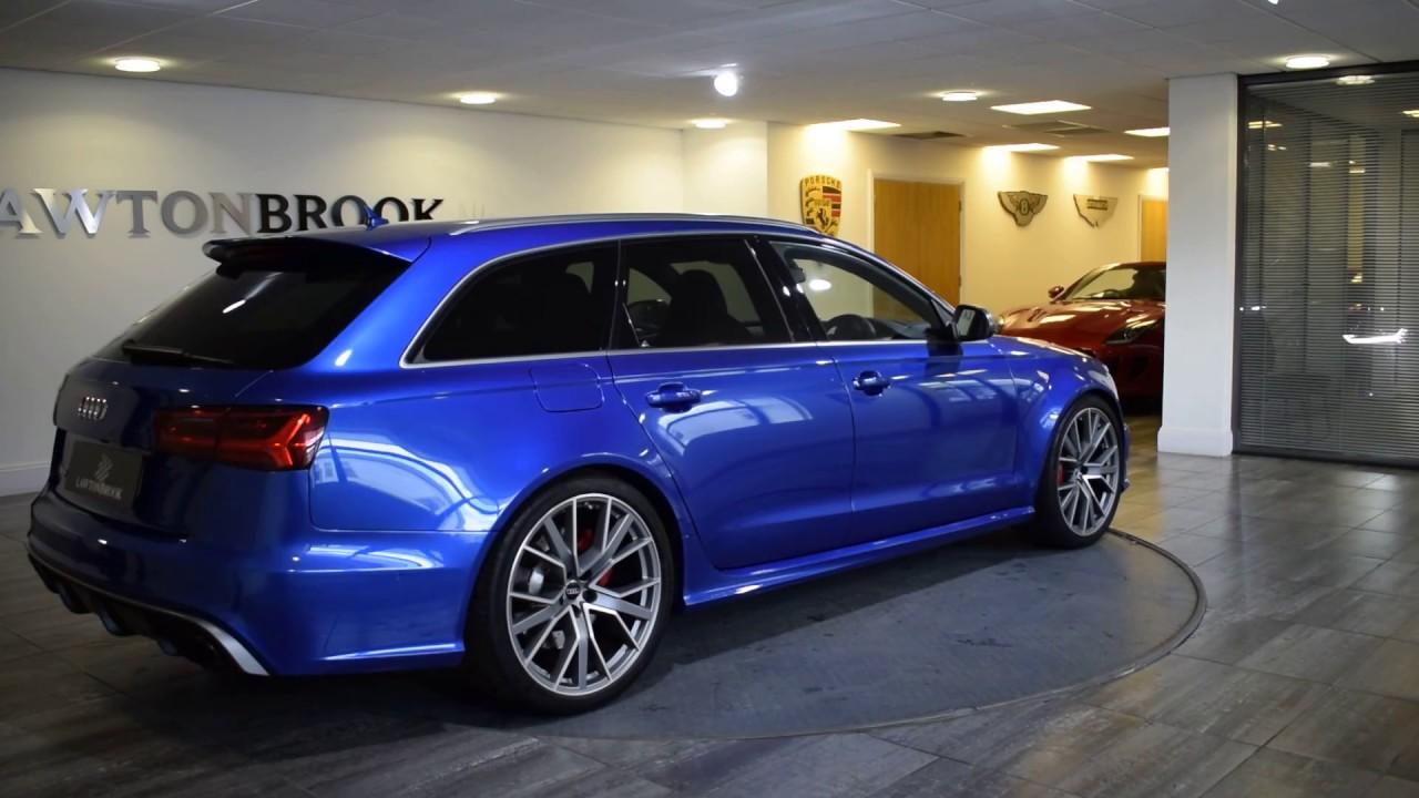 Audi RS6 Avant Blue with Black Lawton Brook - YouTube