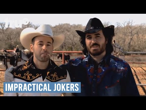 Impractical Jokers  Urban Cowboy Ropes Cattle