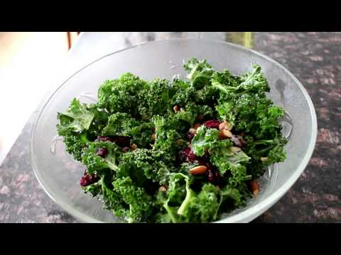 Cranberry And Almond Kale Salad
