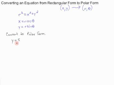 converting an equation from rectangular form to polar form - YouTube
