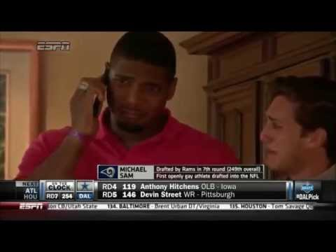 Michael Sam Emotionally Reacts to Being Drafted by the Rams