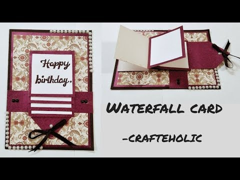 How To Make Birthday Cardshow Water Fall Cardhandmade Cards