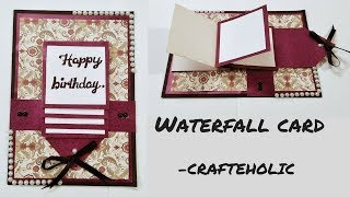 how to make birthday cards\how to make water fall card\handmade birthday cards