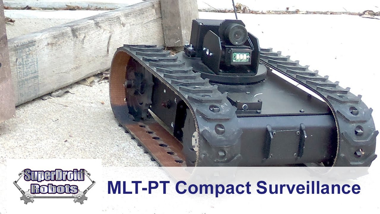 NEW MLT-PT Complete Compact Surveillance Robot Package with Pan and