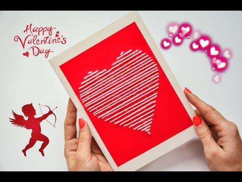 DIY: Открытка ко Дню Влюбленных / Valentines Day Postcard