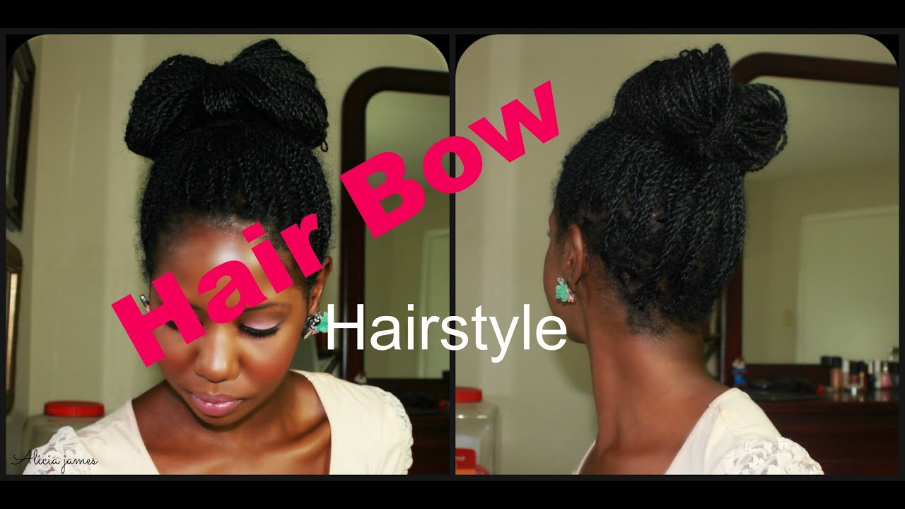 Hair Bow Updo Inspired By Paris Hilton Two Strand Twist