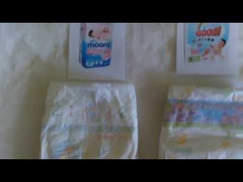 Выбираем и сравниваем японские подгузники ( MOONY, GOO.N , MERRIES )