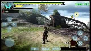 PPSSPP 8.1 Snapdragon600 Monster Hunter 3rd HD Android Gameplay