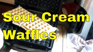 Sour Cream Waffles - A Southern treat on a weekend!