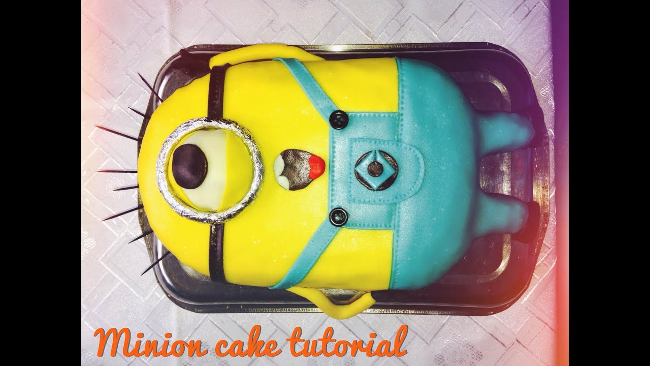 Minion Cake Easy Tutorial Step By Step Youtube