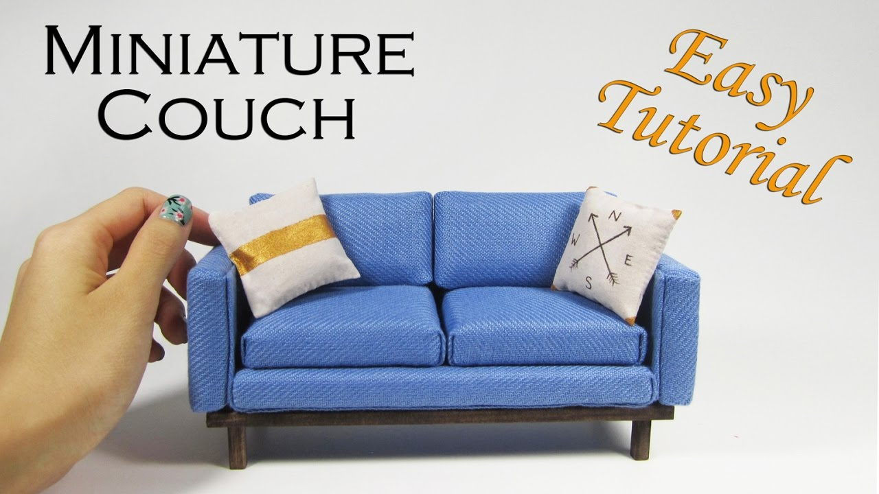 watch miniature how couch realistic youtube make to