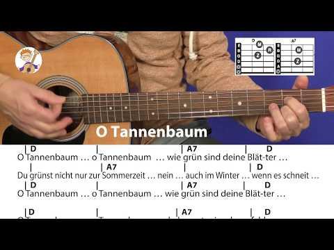O Tannenbaum, Weihnachtslied mit Akkorden & Text für Gitarre zum direkten Mitspielen!