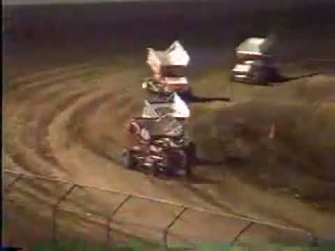 Jimmy Sills - Puts on a Show - NARC Sprint Cars - San Jose Speedway