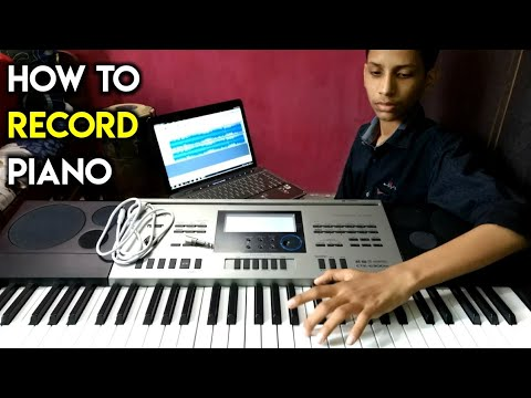 How To Record Piano // Keyboard In Computer? | Hindi Audacity Tutorial | The Kamlesh