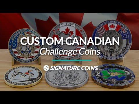 Custom Canada Challenge Coins