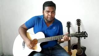 Onek Shadhoner Pore Acoustic Guitar Tutorial