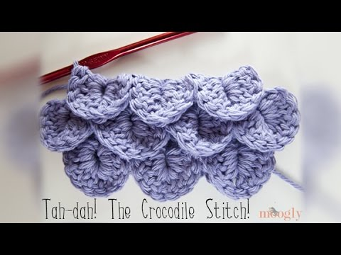 How To Crochet Crocodile Stitch Youtube