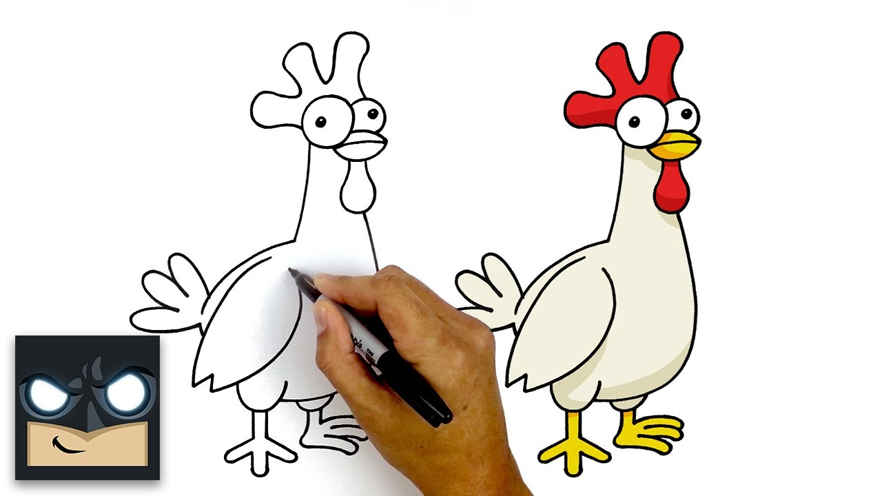 How To Draw The Hay Day Chicken Step By Step Tutorial Myhobbyclass Com