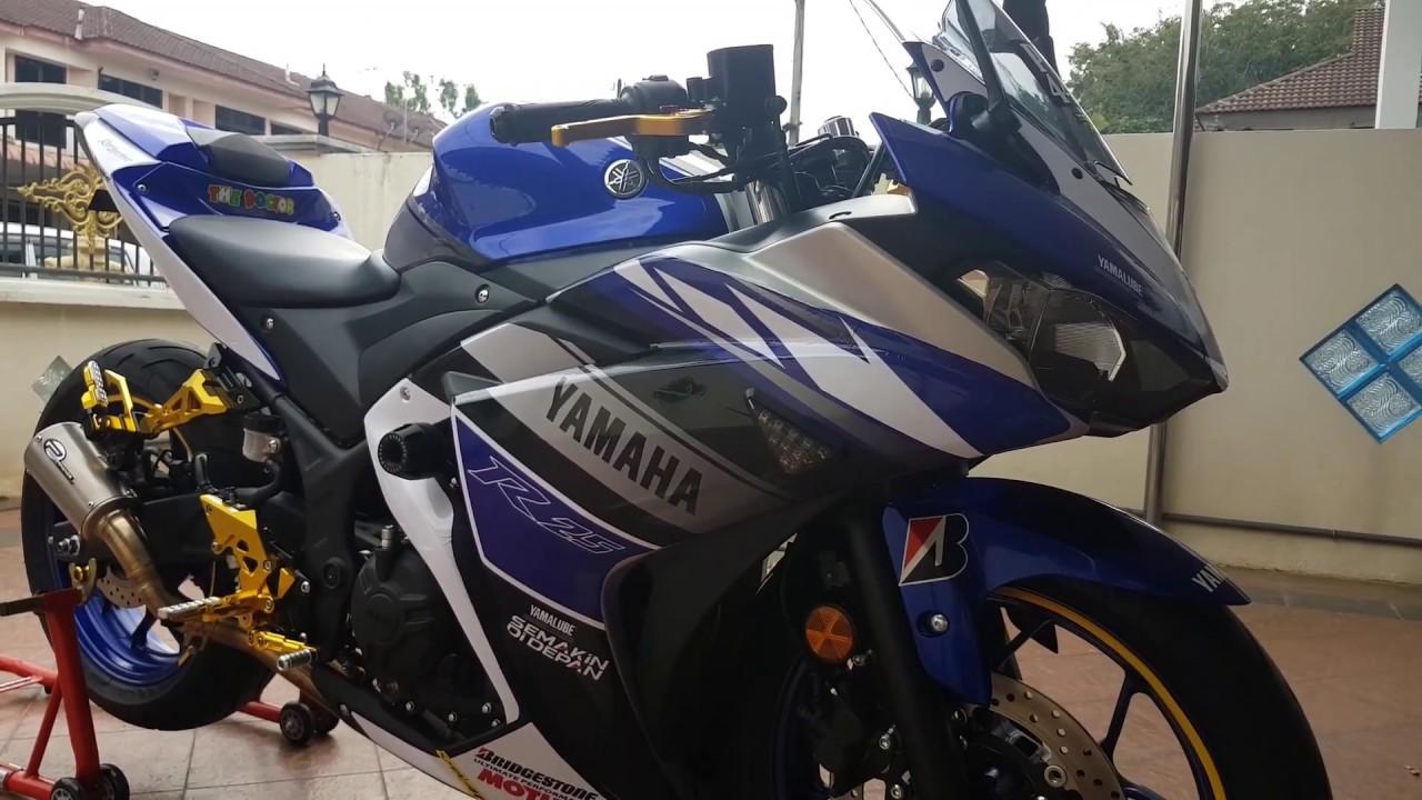 Yamaha r25 custom sticker ala ala motor gp 😎