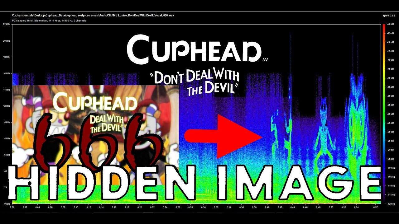CUPHEAD HIDDEN IMAGE INSIDE THE 666 FILE ! ( As Seen In A Spectrograph )