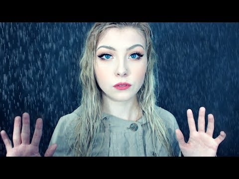 ASMR Gentle Rain & Gentle Whispers (water spraying, tapping, water sounds)