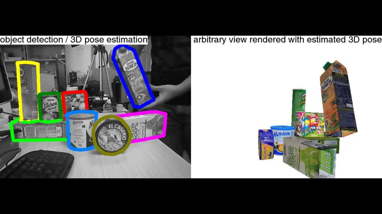 Real-time pose estimation of hundreds of objects