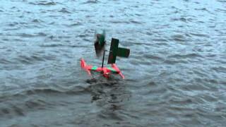 wind engine for catamaran (test)