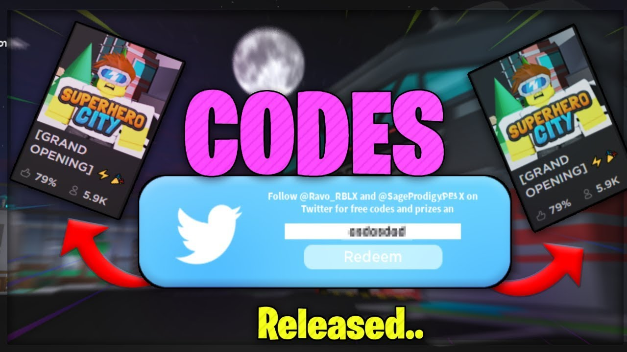All Released Superhero City Codes Roblox Youtube