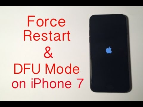 iPhone 7: How to Force Restart\/Hard Reset \u0026 Enter DFU Mode  YouTube