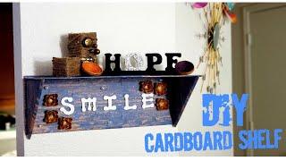 How to make a cardboard shelf.
