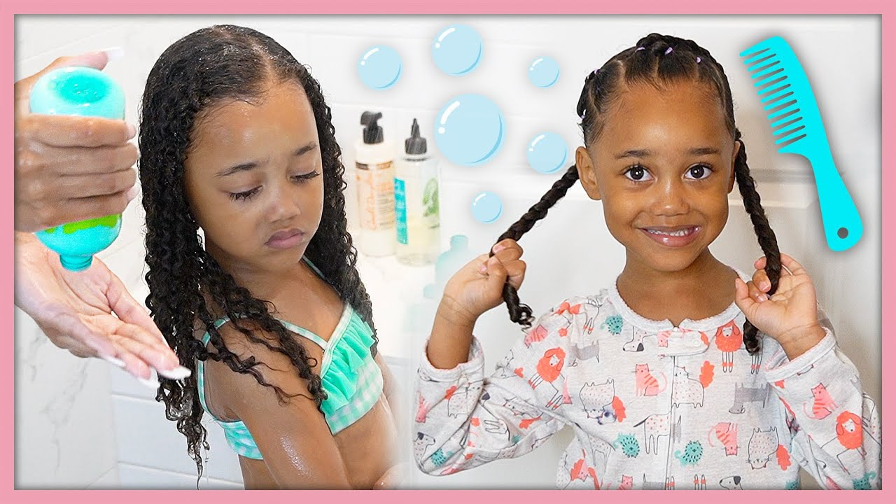 Curly Hair Weekly Wash & Style Routine for Little Girls!