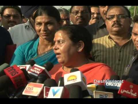 Uma Bharti speaks to media at Sabarmati Riverfront in Ahmedabad Gujarat