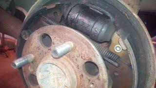 Замена заднего тормозного цилиндра авео